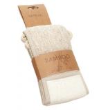 Rücken Massageband Bambus 62 x 10 cm • Leinen