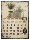Dauer-Kalender aus Blech im mediterranen Stil