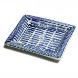 Seifenschale Keramik • blau/weiß