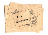 Karte mit Umschlag • Gute Besserung