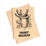 Karte mit Umschlag • Prost Neujahr