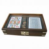 Karten und Würfel-Box • mit durchsichtigem Deckel