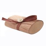Holzetui mit dunklem Band • für eckige Seifen