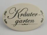 Emailschild Kräutergarten oval 15x10cm