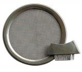 Edelstahl-Räuchersieb 11,5 cm mit Bürstchen